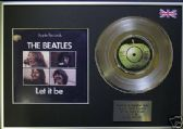 "THE BEATLES - 7"" Platinum Disc+cover- LET IT BE"
